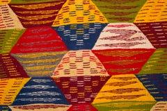 Fragmento de la alfombra abigarrada de las lanas Imagen de archivo