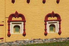 Fragmento de la arquitectura rusa del siglo XVI Foto de archivo