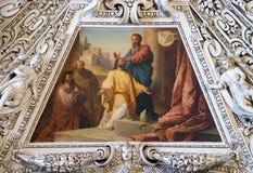 Fragmento de la bóveda en la capilla del Espíritu Santo, catedral de Salzburg Fotografía de archivo