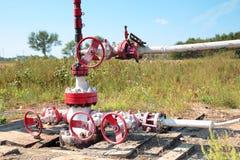 Fragmento de la bomba de aceite Industria de petróleo equipment Fotos de archivo libres de regalías