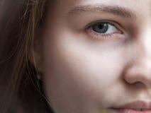 Fragmento de la cara femenina Imagen de archivo libre de regalías