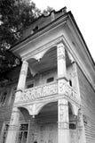 Fragmento de la casa de madera vieja Fotos de archivo