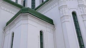 Fragmento de la catedral de la trinidad santa en Kiev Tiro del plumón para arriba metrajes