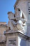 Fragmento de la columna de la Inmaculada Concepción Foto de archivo