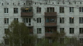 Fragmento de la construcción de viviendas almacen de video