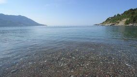 Fragmento de la costa de mar en Montenegro metrajes