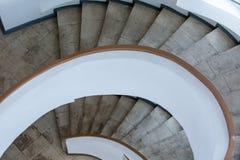 Fragmento de la escalera espiral Imagenes de archivo