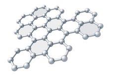 Fragmento de la estructura de la molécula de Graphene Imagen de archivo libre de regalías