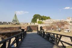 Fragmento de la fortaleza de Belgrado con un puente, Serbia Fotografía de archivo libre de regalías