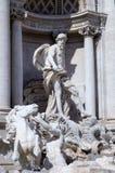 Fragmento de la fuente del Trevi. Roma (Roma), Italia Fotografía de archivo libre de regalías