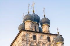 Fragmento de la iglesia de nuestra señora de Kazán en museo del estado de Kolomenskoye Imágenes de archivo libres de regalías