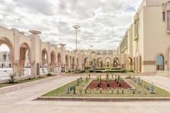 Fragmento de la mezquita Hassan de la torre II en Casablanca foto de archivo