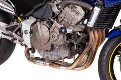 Fragmento de la motocicleta potente azul Imagen de archivo libre de regalías