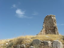 Fragmento de la pared antigua en Xanthos Fotografía de archivo