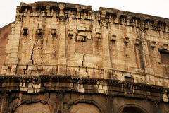 Fragmento de la pared de Colosseum Imagen de archivo libre de regalías