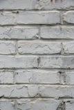 Fragmento de la pared de ladrillo vieja blanqueada, fondo Fotos de archivo libres de regalías