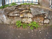 Fragmento de la pared de piedra vieja Imagen de archivo
