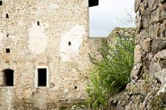 Fragmento de la pared del castillo Fotografía de archivo libre de regalías