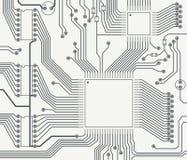 Fragmento de la placa de circuito impresa Imagen de archivo libre de regalías