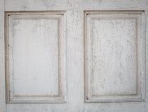 Fragmento de la puerta blanca Fotos de archivo libres de regalías