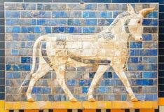 Fragmento de la puerta de Ishtar fotos de archivo libres de regalías