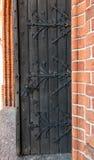 Fragmento de la puerta a la catedral en Pelplin en Polonia Foto de archivo