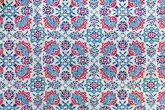 Fragmento de la tela de materia textil retra de la tapicería Imagenes de archivo