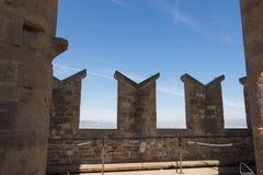 Fragmento de los tejados de la torre de Palazzo Vecchio, Florencia, Toscana, Italia Imagenes de archivo
