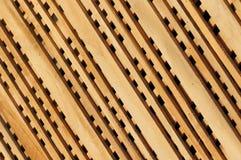 Fragmento de madera diagonal de la cerca fotografía de archivo libre de regalías