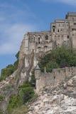 Fragmento de Mont Saint Michel (Francia) Imagen de archivo
