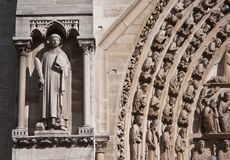 Fragmento de Notre Dame Imagen de archivo libre de regalías