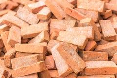 Fragmento de tijolo marrom vermelho Imagem de Stock