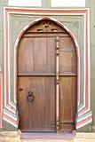 Fragmento de uma casa velha do fahverk. Imagens de Stock