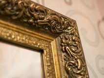 Fragmento de uma decoração de um quadro de um espelho imagem de stock royalty free