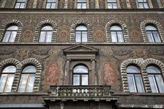 Fragmento de uma fachada de um edifício Fotografia de Stock Royalty Free