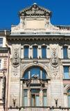 Fragmento de uma fachada do edifício em Nevsky Prospekt Fotografia de Stock