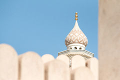 Fragmento de uma mesquita omanense Nizwa, Oman fotografia de stock royalty free