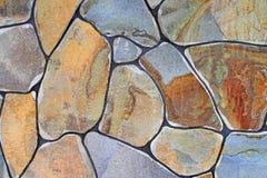 Fragmento de uma parede de uma pedra lascada Fotografia de Stock