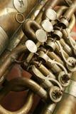 Fragmento de uma trombeta Foto de Stock Royalty Free