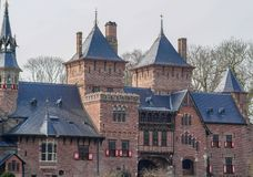 Fragmento de un castillo antiguo de las Edades Medias Fotografía de archivo libre de regalías