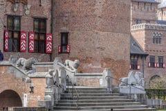 Fragmento de un castillo antiguo de las Edades Medias Fotos de archivo libres de regalías