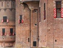 Fragmento de un castillo antiguo de las Edades Medias Imagen de archivo