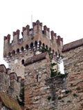 Fragmento de un castillo de Scaligers Fotografía de archivo libre de regalías