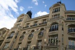 Fragmento de un edificio en Madrid, España. Imagen de archivo