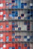 Fragmento de un edificio moderno. Imagen de archivo libre de regalías