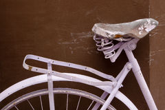 Fragmento de una bicicleta vieja Foto de archivo libre de regalías