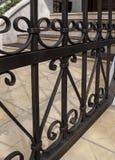 Fragmento de una cerca del hierro Imagen de archivo