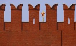 Fragmento de una pared de la Moscú el Kremlin fotografía de archivo libre de regalías