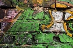 Fragmento de una pared de ladrillo Foto de archivo libre de regalías