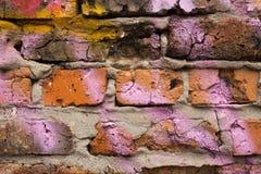 Fragmento de una pared de ladrillo Foto de archivo